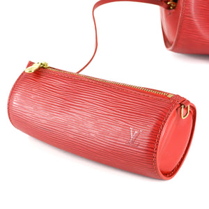 LOUIS VUITTON Soufflot Red EPI Leather Satchel