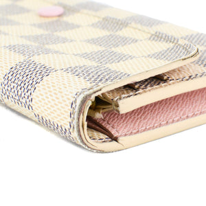 LOUIS VUITTON Damier Azur Emilie Wallet