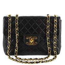 Load image into Gallery viewer, CHANEL Lambskin Quilted Jumbo Single Flap Black