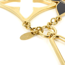 Load image into Gallery viewer, LOUIS VUITTON Gold Porte Cles Puzzle Plated Keychain