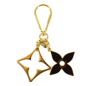 LOUIS VUITTON Gold Porte Cles Puzzle Plated Keychain