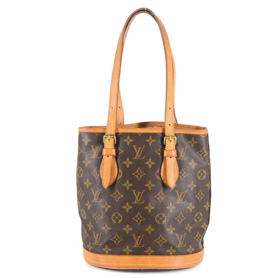 LOUIS VUITTON Monogram Petite Bucket Tote