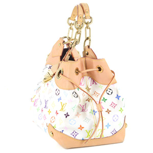 LOUIS VUITTON White Monogram Multicolore Ursula