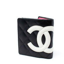 Load image into Gallery viewer, CHANEL Black X White Quilted Cambon 219426 Wallet