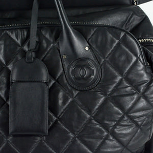 CHANEL Quilted Rolling Weekender Trolley