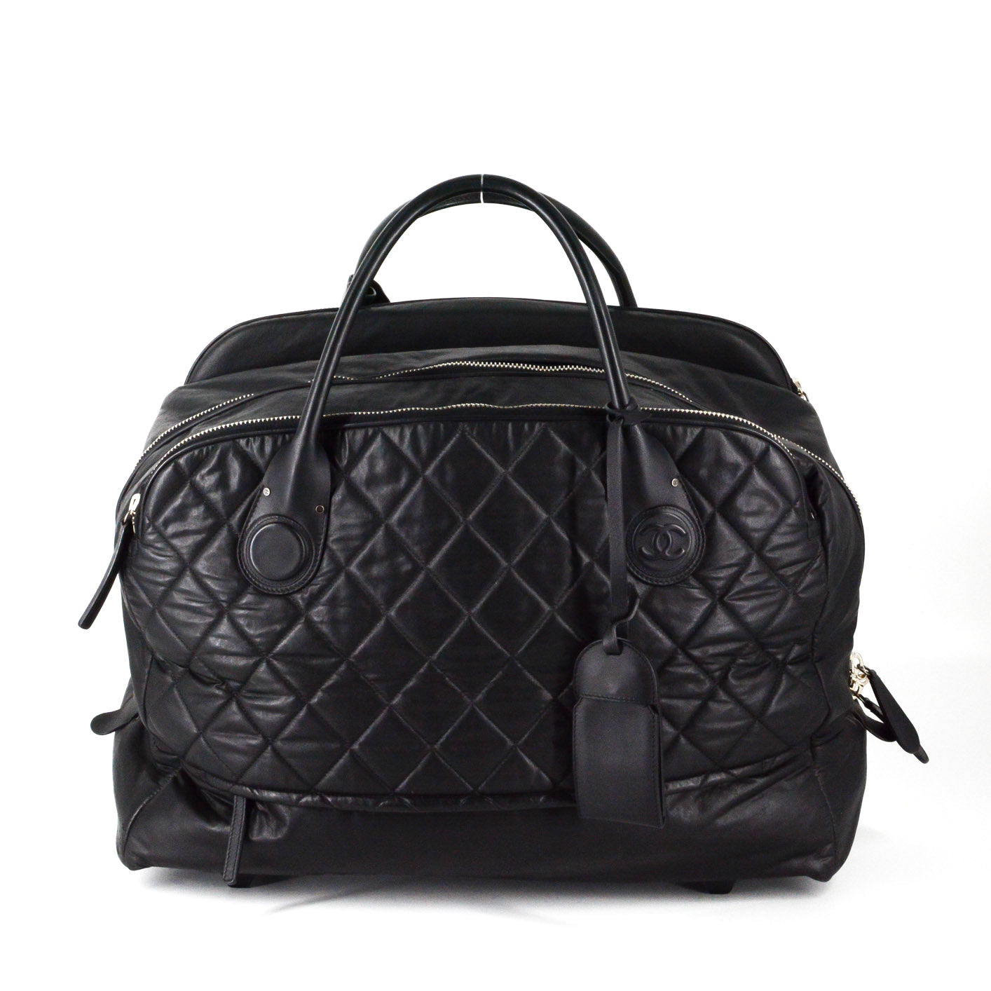 38fa5ebe9c45 Please try a little later. Fine, Take Me Back. ×. CHANEL Quilted Rolling  Weekender Trolley