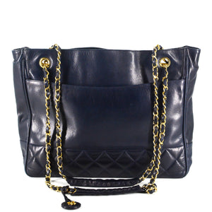 CHANEL Vintage Quilted Shopping Tote