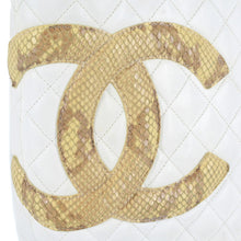 Load image into Gallery viewer, CHANEL Quilted Python Cambon Ligne Medium Tote