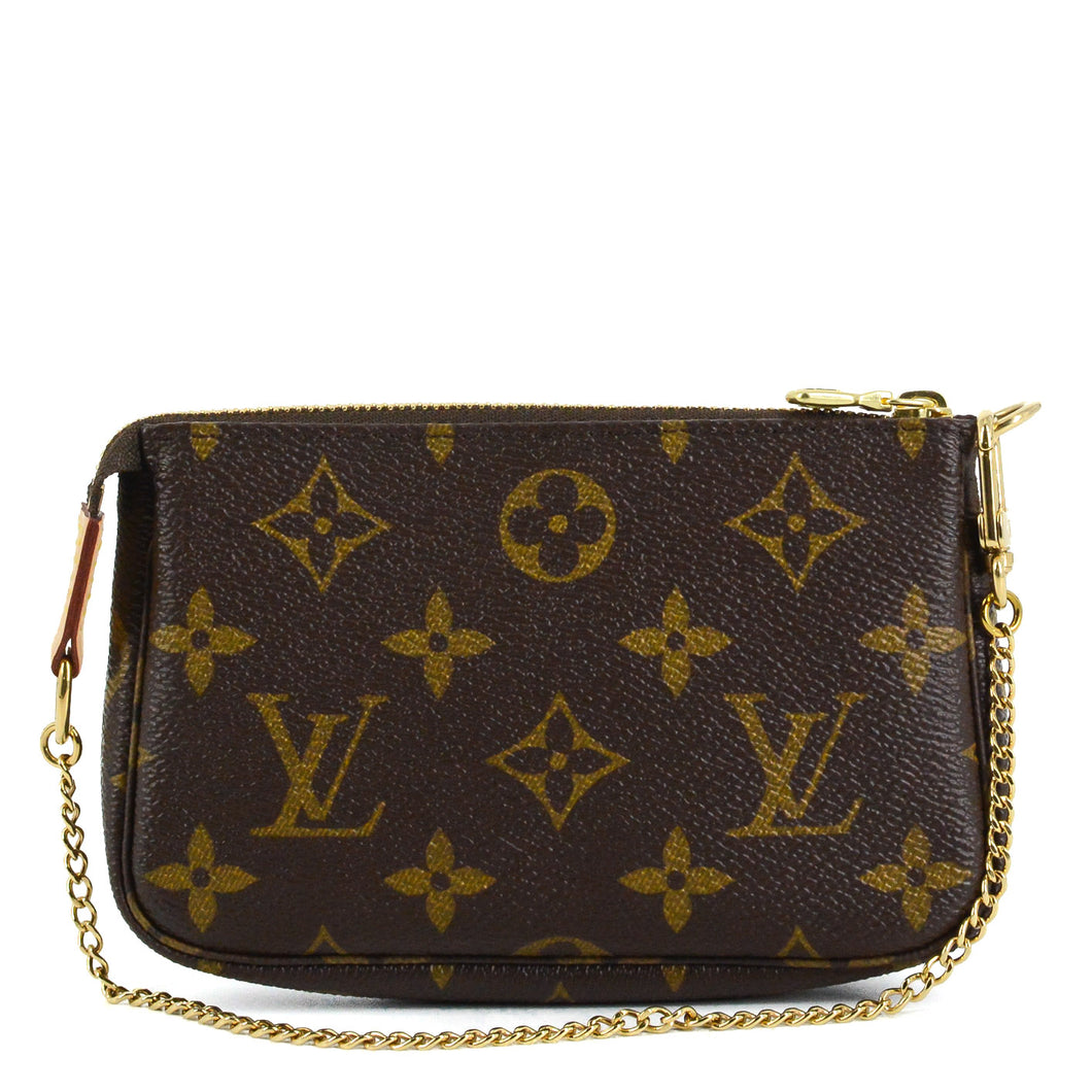 LOUIS VUITTON Monogram Mini Pochette Accessories