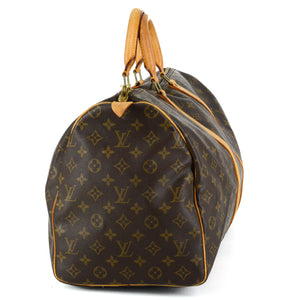 LOUIS VUITTON Keepall 50 Monogram Canvas Leather