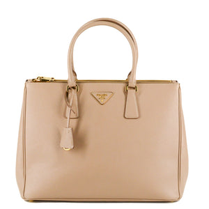 PRADA Galleria Saffiano Leather Bag - Large (Cammeo)