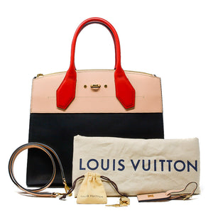 LOUIS VUITTON City Steamer MM Noir Creme Bourgogne
