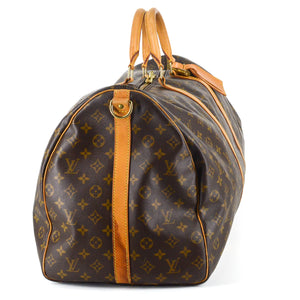 LOUIS VUITTON Monogram Canvas Leather Keepall 60