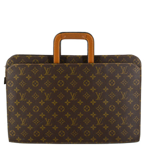 LOUIS VUITTON Vintage Monogram Canvas Document Briefcase Bag