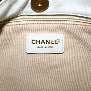 CHANEL Canvas and Leather CC Shoulder Bag