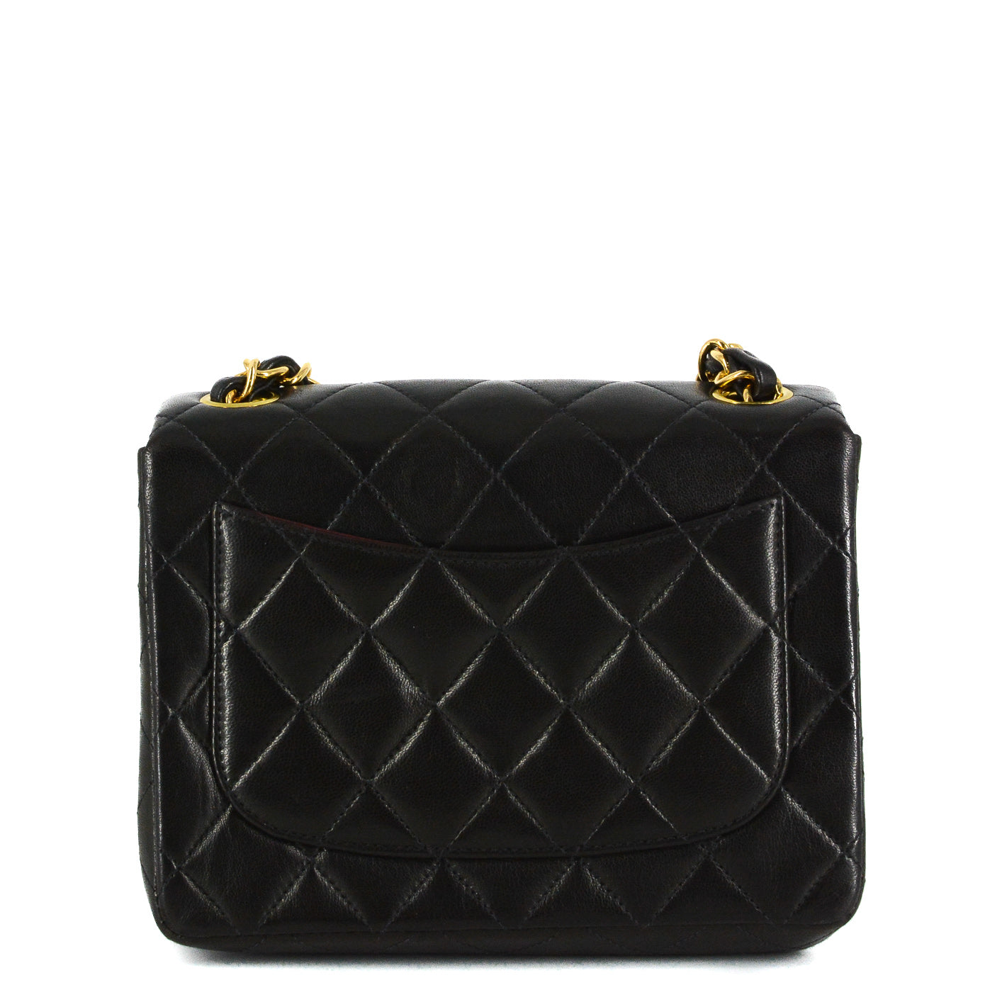 a377a8eea7ee0a ... Load image into Gallery viewer, CHANEL Square Vintage Classic Single  Flap Quilted Mini Bag ...