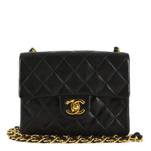 CHANEL Square Vintage Classic Single Flap Quilted Mini Bag