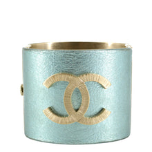 Load image into Gallery viewer, CHANEL Turquoise Logo Cuff Bracelet