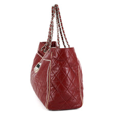 Load image into Gallery viewer, CHANEL Lambskin Quilted Large East West Tote