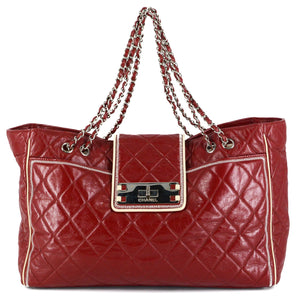 CHANEL Lambskin Quilted Large East West Tote