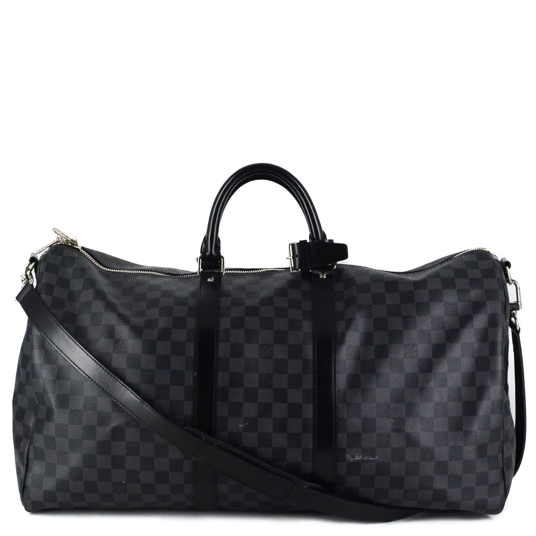 LOUIS VUITTON Damier Graphite Keepall Bandouliere 55