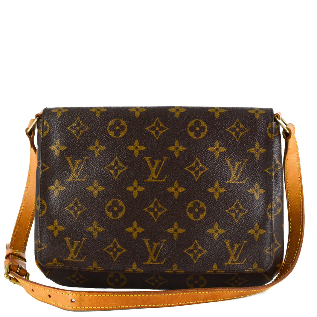LOUIS VUITTON Musette Tango Monogram Brown Canvas