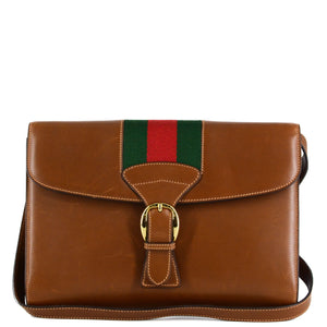 GUCCI Web Buckle Messenger Crossbody