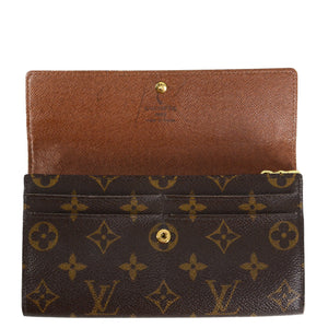 LOUIS VUITTON Monogram Sarah Long Wallet
