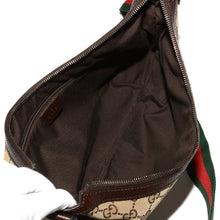 Load image into Gallery viewer, GUCCI Monogram Web Medium Messenger Bag