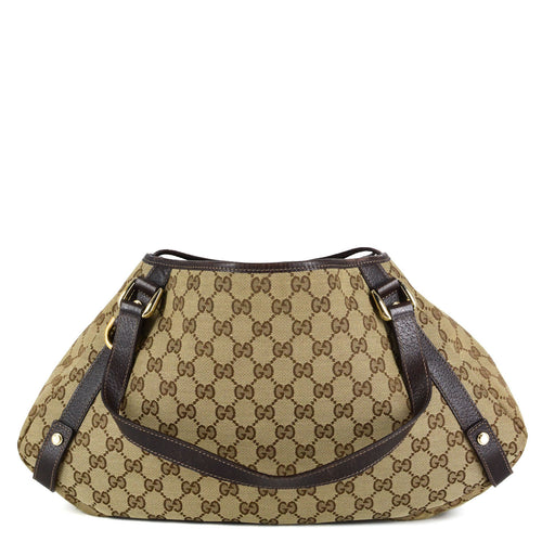 GUCCI Medium GG Canvas Abbey Tote
