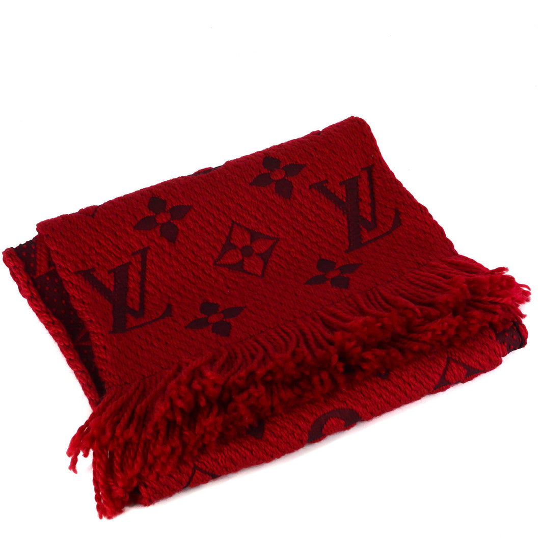 LOUIS VUITTON Ruby Logomania Scarf
