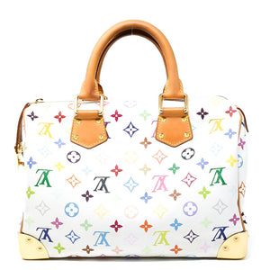 LOUIS VUITTON White Monogram Multicolore Speedy 30 Bag