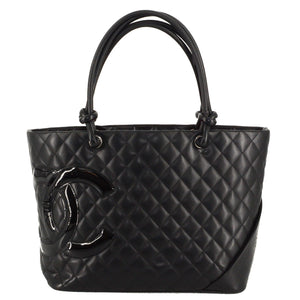 CHANEL Quilted Cambon Ligne Large Tote
