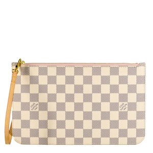 LOUIS VUITTON Damier Azur Neverfull MM/GM Pochette