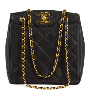 f01636f7df9a CHANEL Caviar Quilted Jumbo CC Shopper Shoulder Tote