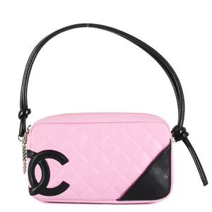 d67d46024ceb CHANEL Pink/Black Cambon Ligne Quilted Pochette Bag