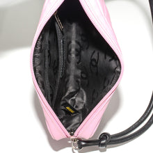Load image into Gallery viewer, CHANEL Pink/Black Cambon Ligne Quilted Pochette Bag