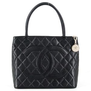 1f5ef1fb04d9 CHANEL Caviar Leather Medallion Tote Bag - Black
