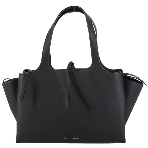 CELINE Tri-Fold Medium Bag Black