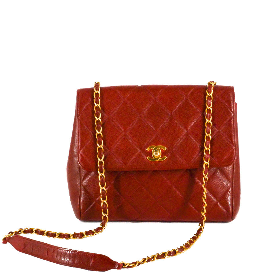 CHANEL Quilted Square Single Flap Bag