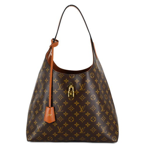 LOUIS VUITTON Monogram Flower Hobo Caramel