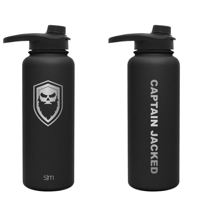Captain Jacked 32 oz. Lasered Engraved Water Bottle