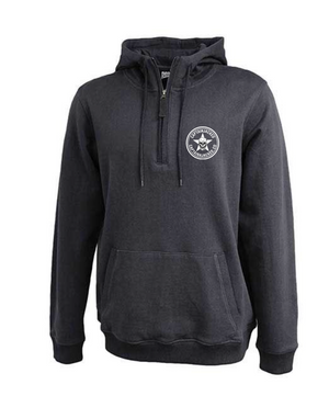 Captain Jacked 1/4 Zip Heathered Hoodie