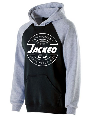 Captain Jacked White Design Hoodie