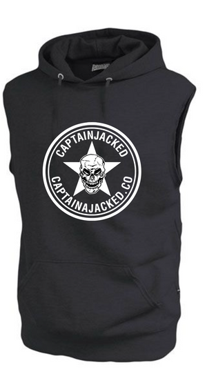 Captain Jacked Sleeveless Fleece Hoodie