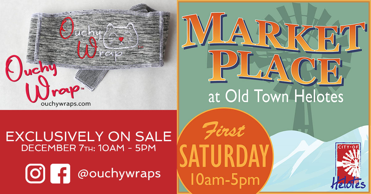 Ouchy Wraps Exclusively on Sale at Helotes Market Day December 7th, 2020