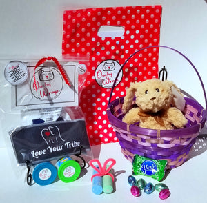 "Some Bunny Loves You, ""Love Your Tribe"" Ouchy Wrap® Basket"
