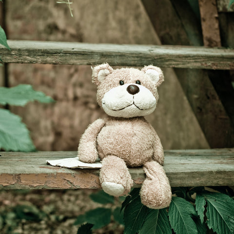 Teddy made from waste materials