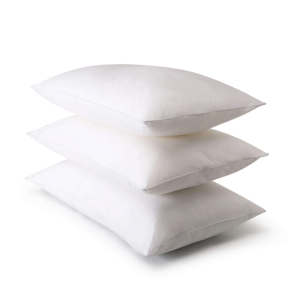 Fine Bedding Company Spundown Pillow with Soft Support, Easy Home Washable and Quick to Dry