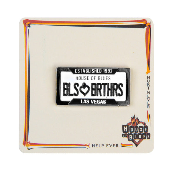 Blues Brothers License Plate Pin